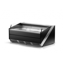 Comptoir réfrigéré libre-service vitre bombée L-Si