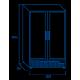 Réfrigérateur 2 portes vitrées de 1200 L