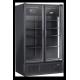 Réfrigérateur noir 2 portes vitrées de 1200 L