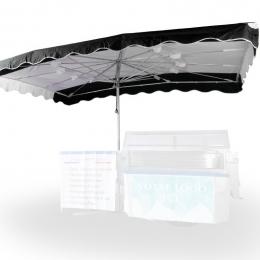 Parasol 3,5 x 2,5 m pour ETAL131/144 Coloris au choix
