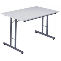 Table aluminium pliante 80*150 Ht 80 cm plateau aluminium