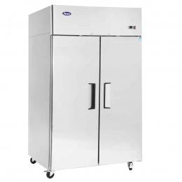 Armoire compacte bi-température inox 2x420 L
