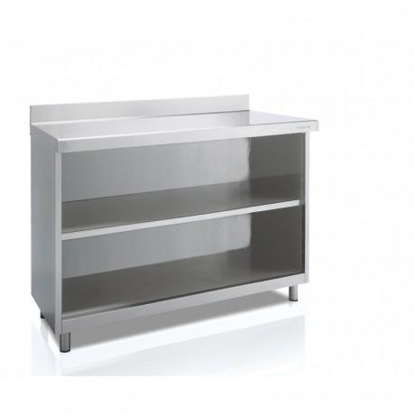Meuble neutre arrière-bar avec étagère