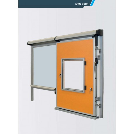 Porte coulissante pour chambre froide atmc for Prix porte coulissante chambre froide