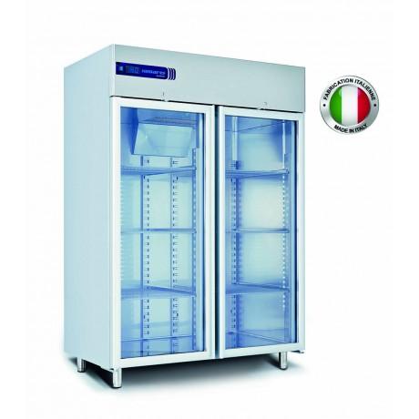 Armoire réfrigérée inox vitrée (-37°C) 1400 L