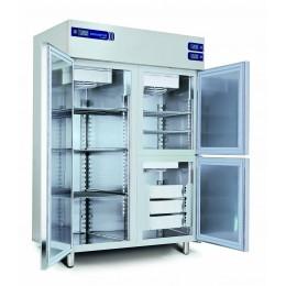 Armoire réfrigérée inox (-2+8 / -2+8 / -15-22°C) 3 chambres séparées