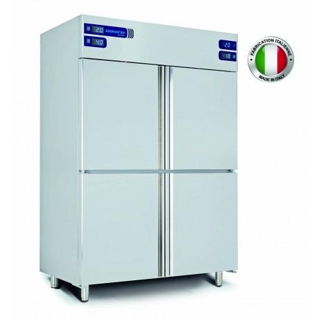 Armoire réfrigérée inox (-2+8 / -2+8 / -15-22 / -15-22°C) 4 chambres séparées