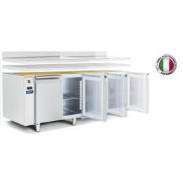 Table réfrigérée positive A distance Avecplan de travail etsplashback 400 L