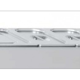 Bac à garniture en inox GN 1/1 H150 mm avec couvercle