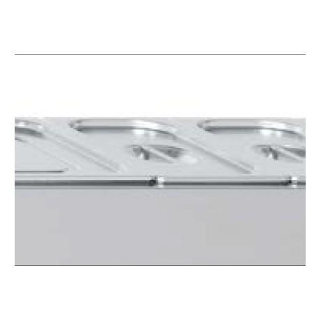 Bac à garniture en inox GN 1/3 H150 mm avec couvercle