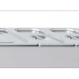 Bac à garniture en inox GN 2/3 H150 mm avec couvercle