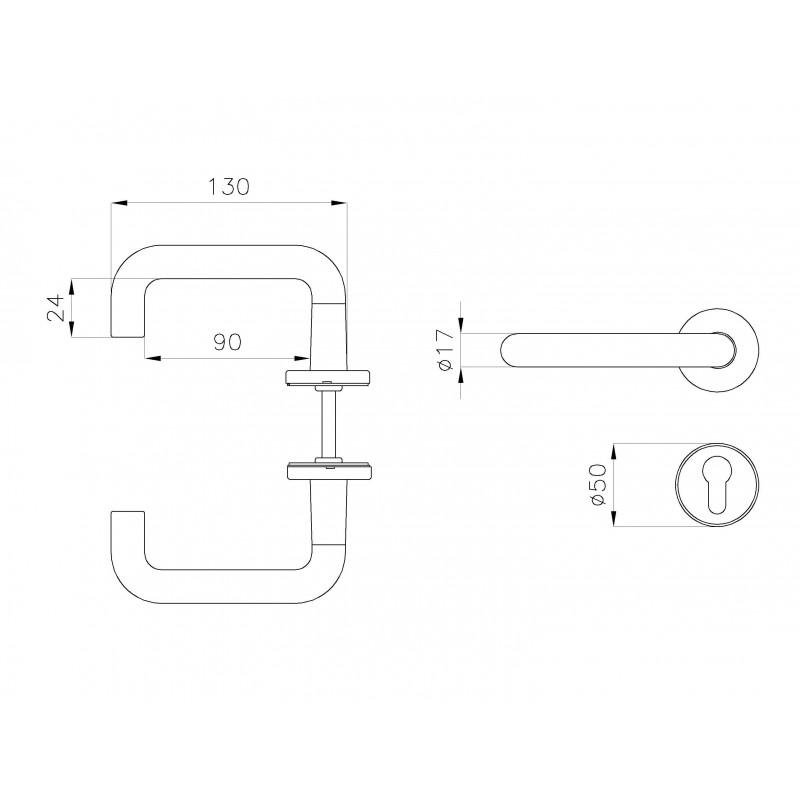 Poign e en aluminium pour chambre froide for Poignee de chambre froide