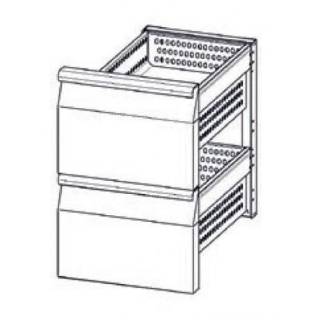 Accessoire elément en INOX à 2 tiroirs refrigerés (1/2+1/2) TN pour tables Mod. Gastronorm