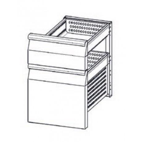 Accessoire elément en INOX à 2 tiroirs refrigerés (1/3+2/3) TN pour tables Mod. Gastronorm
