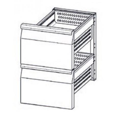 Accessoire elément en INOX à 2 tiroirs refrigerés (1/2+1/2) TN pour table Mod. Snack