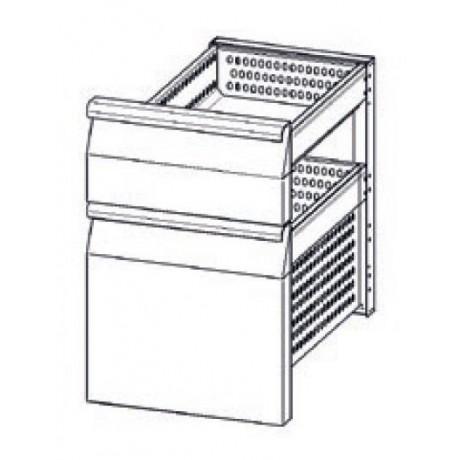 Accessoire elément en INOX à 2 tiroirs refrigerés (1/3+2/3) TN pour tables Mod. Snack
