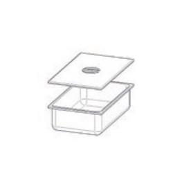 Bac en INOX GN 1/1 H150 mm avec couvercle