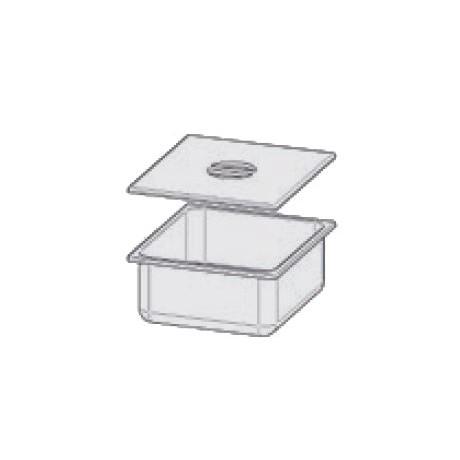 Bac en INOX GN 2/3 H150 mm avec couvercle