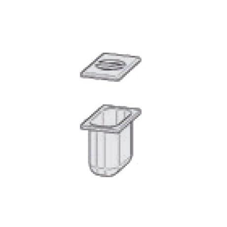 Bac en INOX GN 1/9 H100 mm avec couvercle