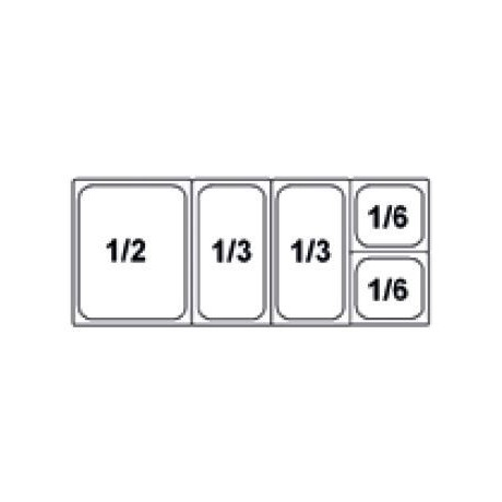 Composition vitrine pizza Mod. 1200 (1/2+1/3+1/3+1/6+1/6)