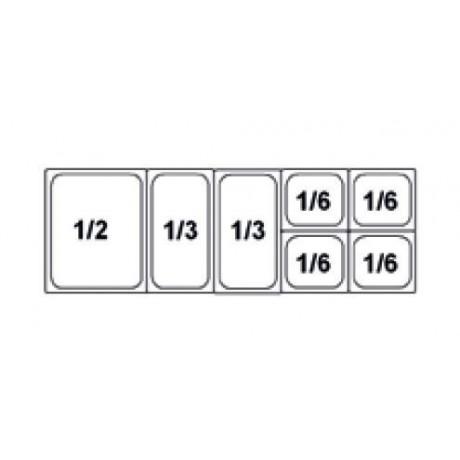 Composition vitrine pizza Mod. 1450 (1/2+1/3+1/3+1/6+1/6+1/6+1/6)