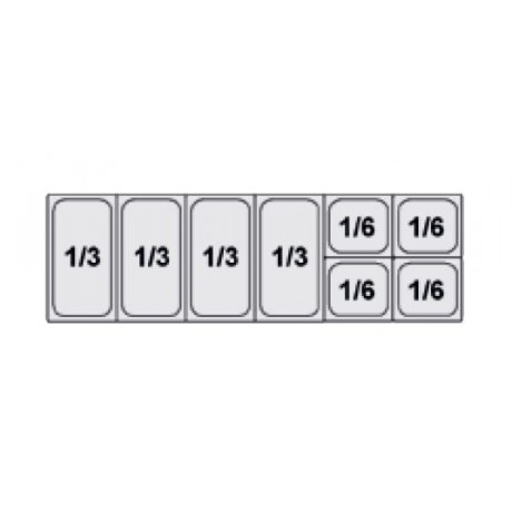 Composition vitrine pizza Mod. 1500 (1/3+1/3+1/3+1/3+1/6+1/6+1/6+1/6)