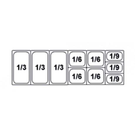 Composition vitrine pizza Mod. 1500 (1/3+1/3+1/3+1/6+1/6+1/6+1/6+1/9+1/9+1/9)