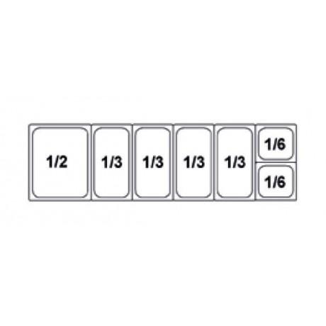 Composition vitrine pizza Mod. 1600 (1/2+1/3+1/3+1/3+1/3+1/6+1/6)