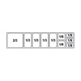Composition vitrine pizza Mod. 1800 (2/3+1/3+1/3+1/3+1/3+1/6+1/6+1/9+1/9+1/9)