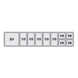 Composition vitrine pizza Mod. 2000 (2/3+1/3+1/3+1/3+1/3+1/3+1/6+1/6+1/6+1/6)