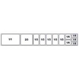 Composition vitrine pizza Mod. 2500 (1/1+2/3+1/3+1/3+1/3+1/3+1/3+1/6+1/6+ 1/9+1/9+1/9)