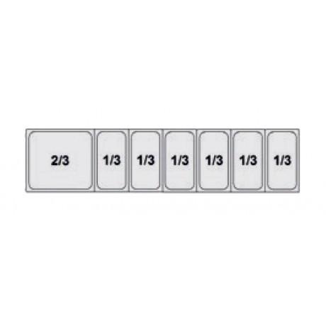 Composition Food preparation Mod. TF3 (2/3+1/3+1/3+1/3+1/3+1/3+1/3)