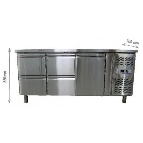 Desserte réfrigérée à tiroirs 2 Portes