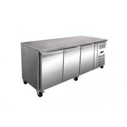 Table réfrigérée boulangerie pâtisserie avec plan de travail en Granit