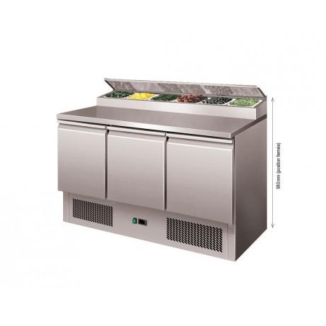 Table réfrigérée à Sandwich Type Saladette 2 à 3 portes