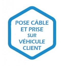 Pose câble et prise sur véhicule client