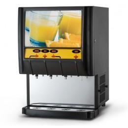 Distributeur de boissons fraiches 3 saveurs + eau / 5 lt