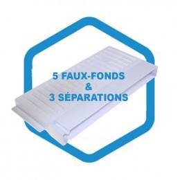 Kit intérieur AD 185/210 : 5 faux-fonds & 3 séparations