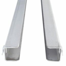 Paires de glissières en aluminium
