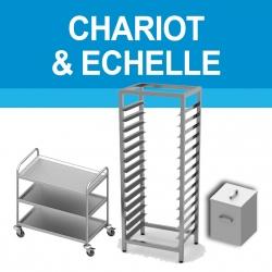 Chariot & échelle en inox